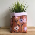Small fabric planter | Storage basket | Pot cover | EARTHY FLORAL