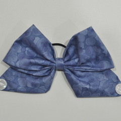 Blue Bubbles Bow Ear Saver for Ear Loop Face Masks