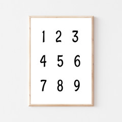 Numbers Nursery Printable
