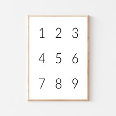 Modern Nursery Numbers Printable