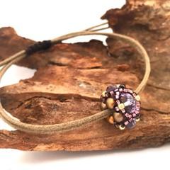 Bracelet with Beaded Charm, Minimalist Bracelet, Adjustable Bracelet,Boho Bracel