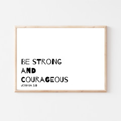 Nursery Printable 'Be Strong' Quote