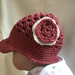 Crocheted Baby Visor Hat