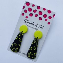 Black and wasabi dangles