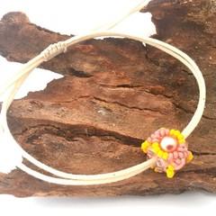 Bead Woven Bracelet, Adjustable Beaded Bracelet, Minimalist Bracelet,Boho Bracel