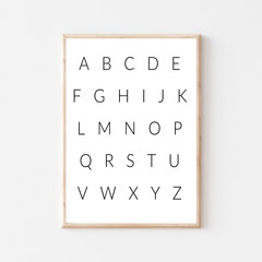 Modern Nursery Alphabet Printable