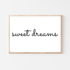 Nursery Printable 'Sweet Dreams' Wall Art