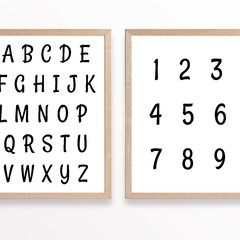 Nursery Alphabet & Numbers Printable Set of 2