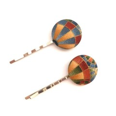 Fabric Button Bobby Pin, Hair Pin for Woman, Hair Clips for Ladies