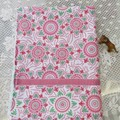 Christmas Snowflake Tea Towel/ Hand towel - terry towelling backed cotton drill.