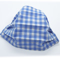 Gorgeous Gingham – Blue (6mm) - Pleated Face Mask
