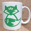 Printed Green Fox Mug