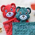Christmas themed 'Ruggybud' - personalised, comforter, keepsake, lovey.