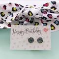 Leopard Print Gift Set - Earrings and hair tie
