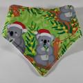 Aussie Christmas Koala Bandana Bib /Dribble Bib