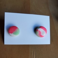 Colourful earring studs - Round M