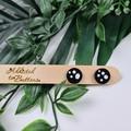 Dotty Spotty Spot Cirlce Stud earrings - Handcrafted earrings