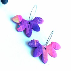 Pink & purple perfection statement dangles collection