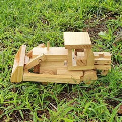 Wooden Toy Bulldozer