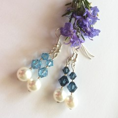 Swarovski Pearl Earrings: Lunar