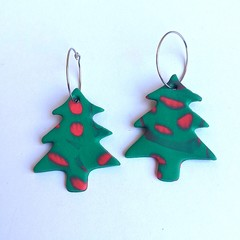 Chrissy 🌲 polymer clay statement dangles collection: