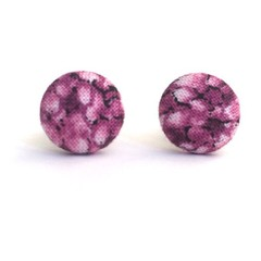 Purple Surgical Stainless Steel Earrings /Mini Button Earrings