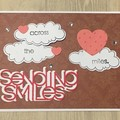 Sending smiles Handmade Card - social distancing virtual hugs