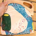Teal & lemon Banksia handbag