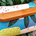 Abstract protea clutch