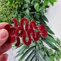 Ruby Red Slippers - Winding Road - Glitter - Drop Resin - Stud Dangle earrings