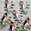 Australian Mistletoebird Hanging Decoration / Christmas Ornament / hand made