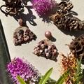 Polymer clay earrings - statement earrings Roses