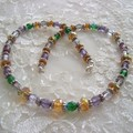 Two Piece Multi coloured Necklace