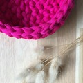 MEDIUM | crochet basket | essential oils | storage basket | FUCHSIA