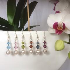 Swarovski Pearl Earrings: Lunar
