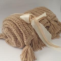 Handmade Natural Colour Blanket
