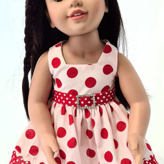 Red Polka Dot Sundress with Belt