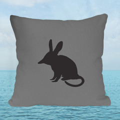 Bilby Cushion Cover in Charcoal