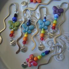 bookmark butterfly Thankyou charm chakra colours  great teachers gifts  teacher