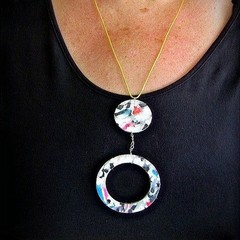Recycled Plastic Bottle Pendant. Recycled Plastic Jewellery.