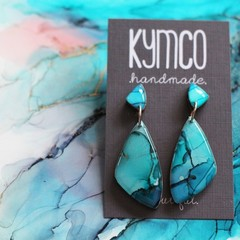 The Shallows Collection - dangle resin art earrings