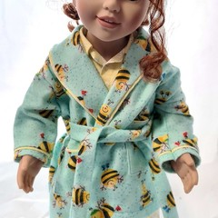 Bedtime set - PJ's and Dressing Gown - Bees