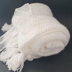 Beautiful Handmade Blanket -White