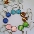 Round Drop Earrings in Five Colours