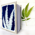 Fern Art Handmade Notebook, blank pages