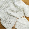 White snuggle blankets. Click for more styles