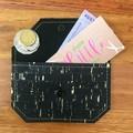 Coin Purse - Cork Black with gold flecks