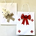 Christmas Decorated  set of 2 Gift Bags