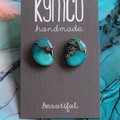 The Shallows Collection - stud resin art earrings