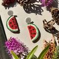 Polymer clay earrings - statement earrings Watermelons